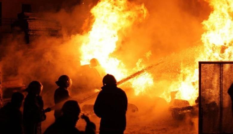 الدفاع المدني يتعامل مع حريق كبير في طوباس