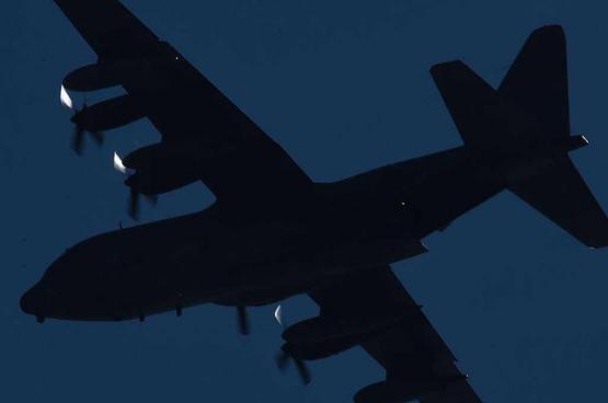 تحطم طائرة عسكرية أميركية تقل 11 شخصا