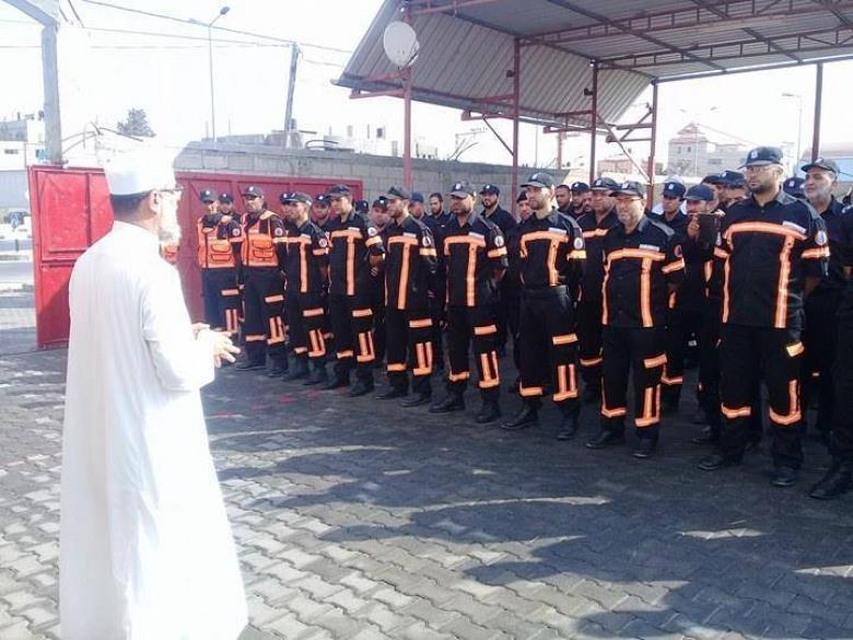 النائب الجمل يشارك في طابور أركان الدفاع المدني