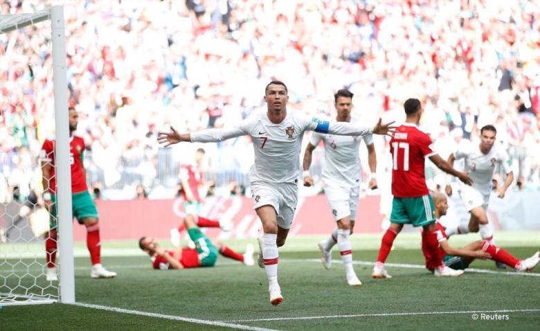 هدف رونالدو للبرتغال يضع المغرب خارج المونديال