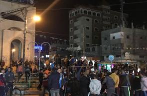 فرحة الجماهير الفلسطينية في رفح بانتصار المقاومة