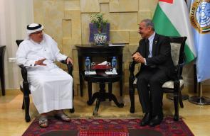 العمادي يلتقي رئيس حكومة رام الله