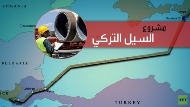 """تركيا تتفق مع روسيا على تمويل مشروع """"السيل التركي"""""""