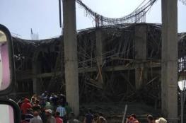 إصابة 7 مواطنين جراء انهيار سقف قيد الإنشاء بنابلس