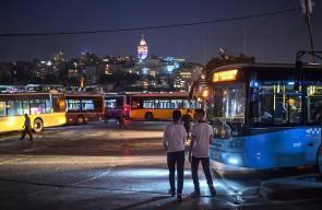 الأجواء في مدينة إسطنبول مساءاً