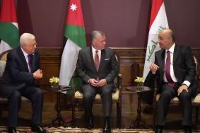 قمة ثلاثية جمعت عباس بالعاهل الأردني والرئيس العراقي بعمّان