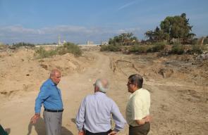 بلدية النصيرات تبحث سبل تطوير وادي غزة