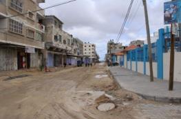 الأونروا تنفذ مشاريع بنى تحتية في شوارع قطاع غزة