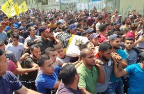 الجماهير الفلسطينية تُشيّع جثامين 3 شهداء شمال قطاع غزة
