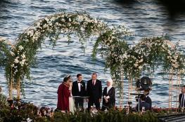 """أردوغان و""""أرطغرل"""" يشاركان فرح أوزيل بإسطنبول"""