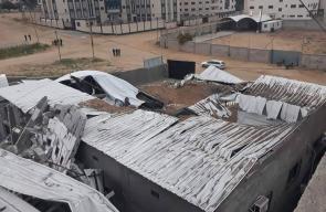 جانب من الأضرار التي خلّفها قصف طيران الاحتلال لقطاع غزة