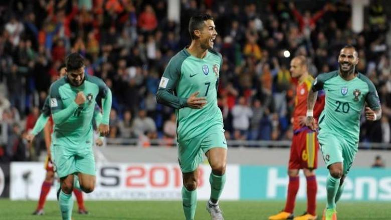 رونالدو ينقذ البرتغال بأرقامه القياسية