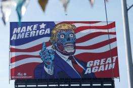 """ترامب """"الأزرق"""" يظهر في المكسيك"""