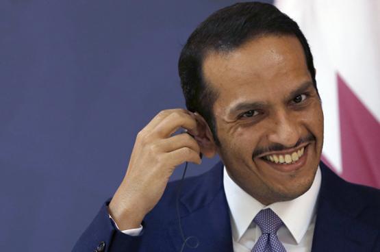 وزير خارجية قطر: ندعم الشعب الفلسطيني وليس حماس