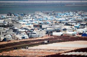 مخيم عتمة للنازحين السوريين في محافظة إدلب