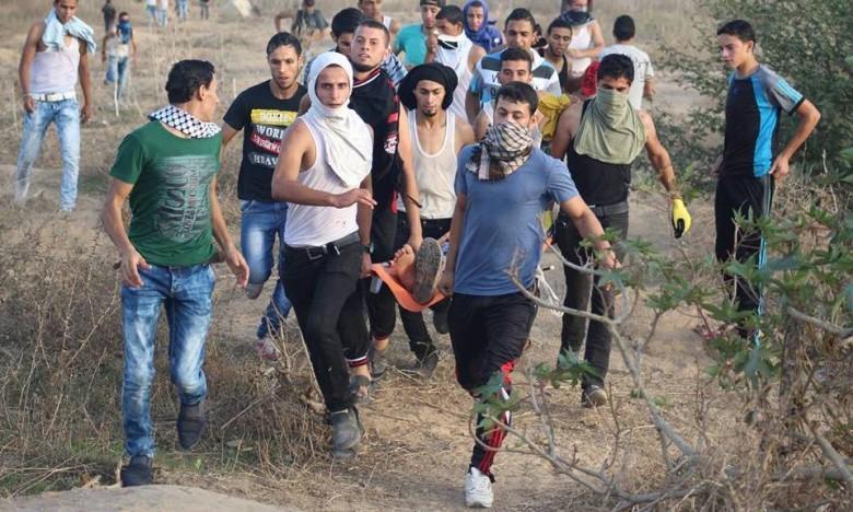 إصابة شاب برصاص الاحتلال شرق خانيونس