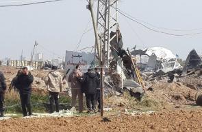قصف إسرائيلي لموقع عسكري بالنصيرات