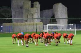 انطلاق معسكر المنتخب الفلسطيني في الدوحة