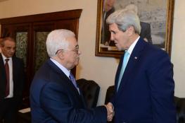 عباس يلتقي وزيري خارجية أمريكا وفرنسا بباريس