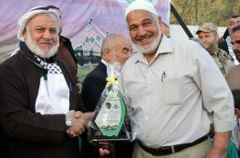 حماس تكرم ذوي شهداء المغازي