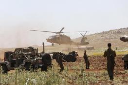 مناورات لجيش الاحتلال في الجليل والجولان