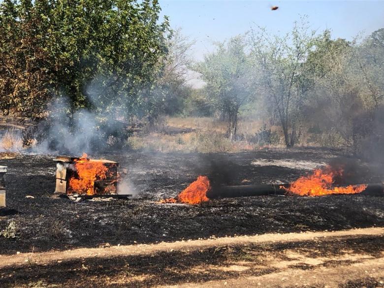 عودة الحرائق إلى مستوطنات غلاف غزة