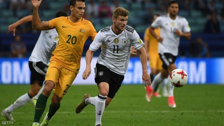 """""""رديف"""" ألمانيا يسقط """"الكنغر"""" في كأس القارات"""