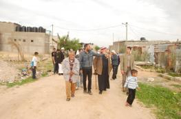 نواب الوسطى يتفقدون المناطق الشرقية بدير البلح