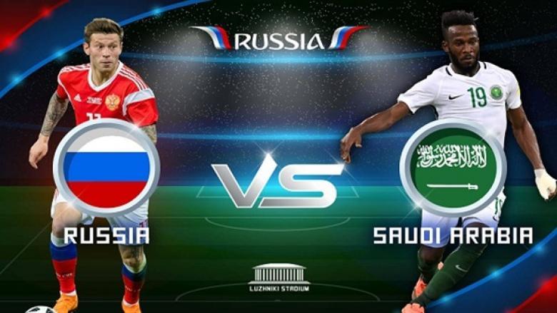 تقدُم المنتخب الروسي على نظيره السعودي بافتتاح مونديال روسيا 2018