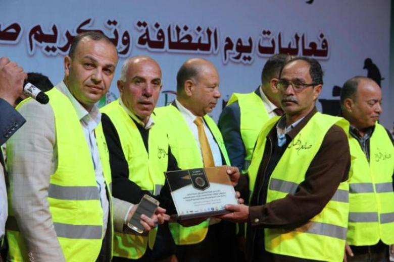 حفل تكريم لعمال النظافة في بلدية الخليل