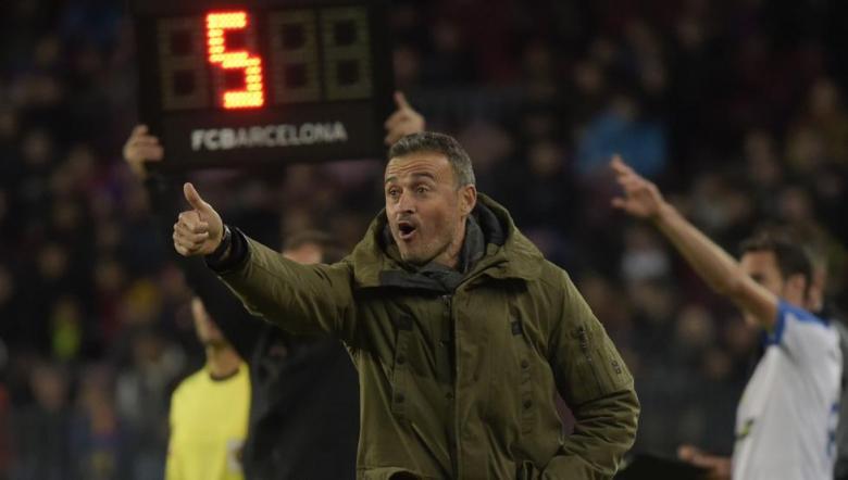 جماهير برشلونة تتنبأ بمصير إنريكي