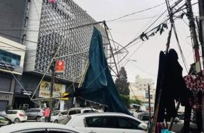 أضرار جسيمة بفعل الرياح القوية المصاحبة للمنخفض الجوي بغزة
