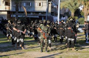 عرض عسكري لكتائب الأقصى بغزة