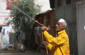حملة تنظيف وتثقيف للحد من انتشار فيروس كورونا بالبريج