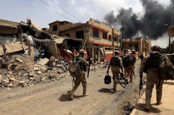 الجيش العراقي يعلن السيطرة على حي النجار بالموصل