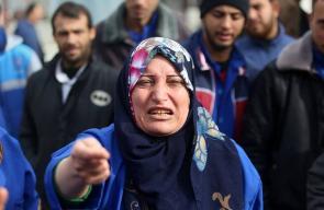 اعتصام النقابات الصحية في مجمع الشفاء الطبي بغزة