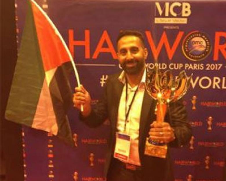 أسير محرر يفوز ببطولة كأس العالم للتجميل في فرنسا
