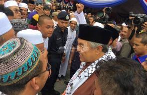 نائب رئيس الوزراء الماليزي زاهد حميدي يشارك في تظاهرة نصرة للأقصى