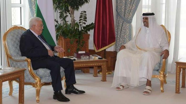 عباس يلتقي أمير دولة قطر الشيخ تميم
