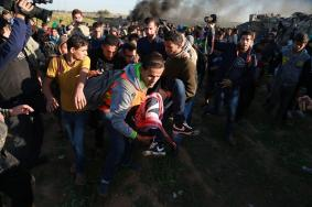 إصابات بالرصاص والغاز المسيل للدموع شرقي قطاع غزة