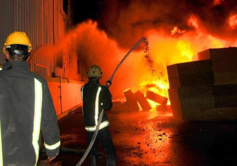 إخماد حريق بمنزل في سيريس جنوب جنين