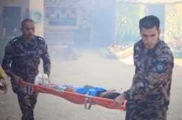 مناورة للتعامل مع الطوارئ بمدرسة في طوباس