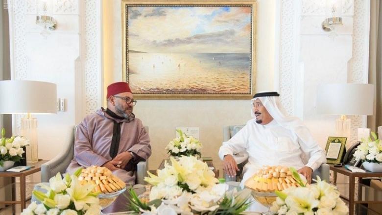 العاهل السعودي يستقبل ملك المغرب في طنجة