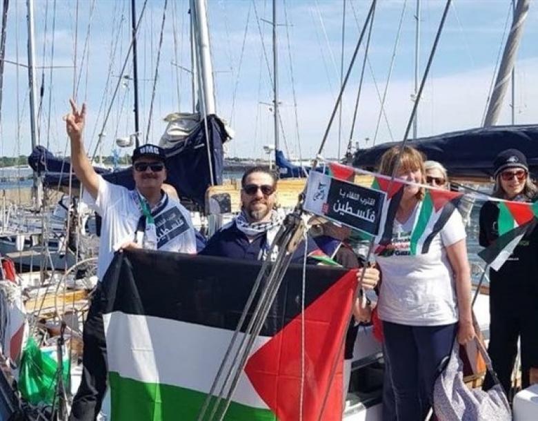 """""""إسرائيل"""" تحتجز نشطاء دوليين على حدود غزة حاولوا كسر الحصار"""