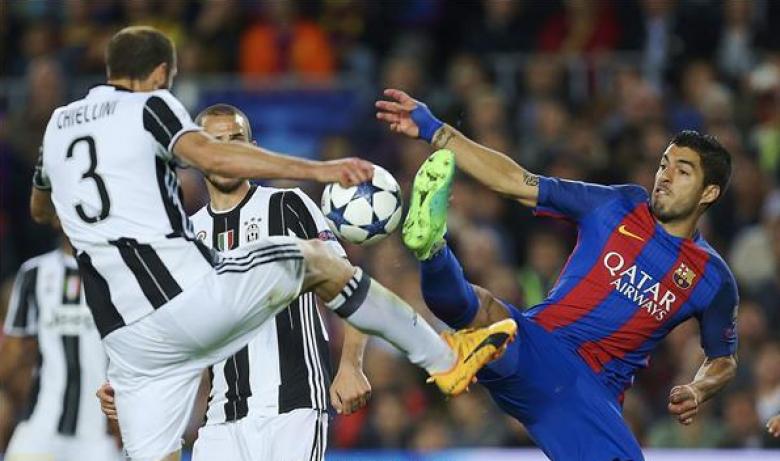 يوفنتوس يقصي برشلونة ويتأهل للمربع الذهبي