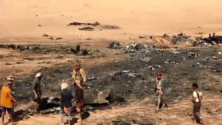 أول صورة لطاقم المقاتلة السعودية التي سقطت في اليمن