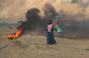 مشاركة المرأة الفلسطينية في جمعة الخان الأحمر شرق الوسطى