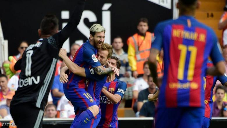 برشلونة يهزم فالنسيا برباعية مقابل هدفين