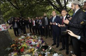 مسئولون أتراك يزورون مكان المذبحة في نيوزيلندا