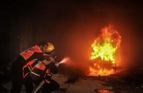 مناورة تدريبية للدفاع المدني بغزة